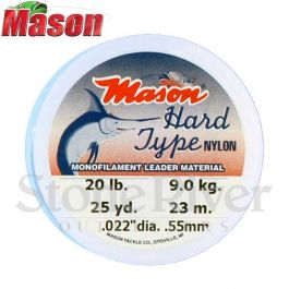 Mason Tackle Co 100 Yds Hard Type Nylon Monofilament Leader Material Pick a Size